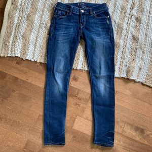 SILVER Aiko Mid Rise Skinny Jeans